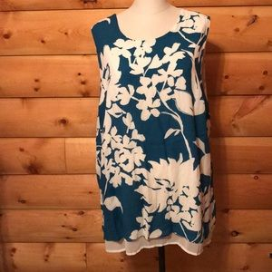 Plus size print tunic NWT